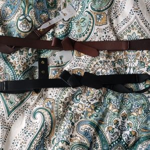 Two loft leather belts black and brown